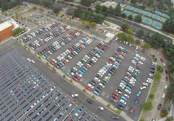 Guinness World Record 507 electric vehicles Cupertino