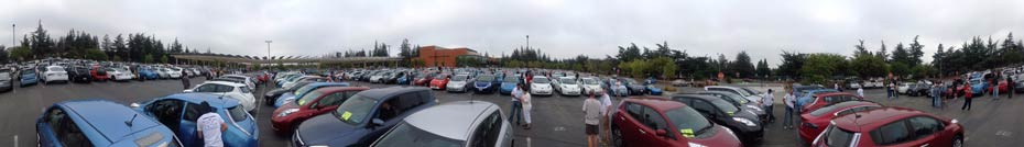 Guinness World Record 507 electric vehicles Cupertino Panorama